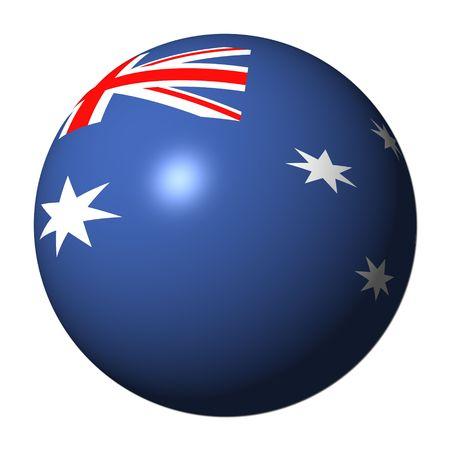 spherical: Australian flag sphere isolated on white illustration