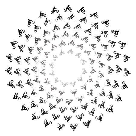 círculos concéntricos de bicicletas en la ilustración en blanco Foto de archivo - 5580218