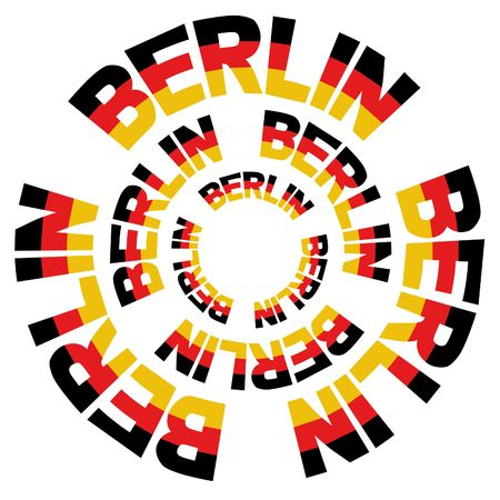 concentric circles of Berlin flag text illustration illustration