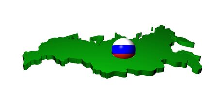 Russian flag sphere with map of Russia illustration illustration
