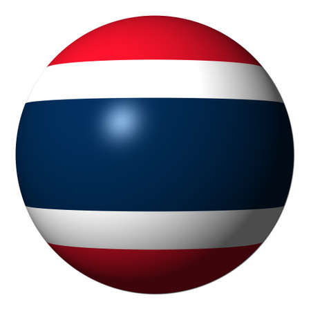 drapeau thailande: Thai flag sph�re isol�e sur l'illustration blanc