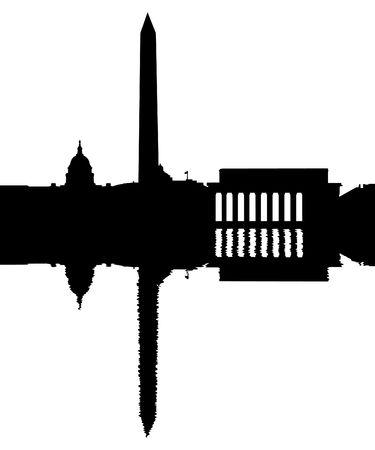 Washington DC Skyline weerspiegeld