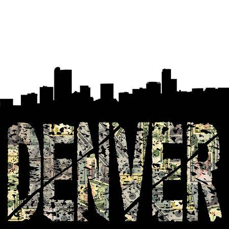 denver: Denver grunge text with skyline