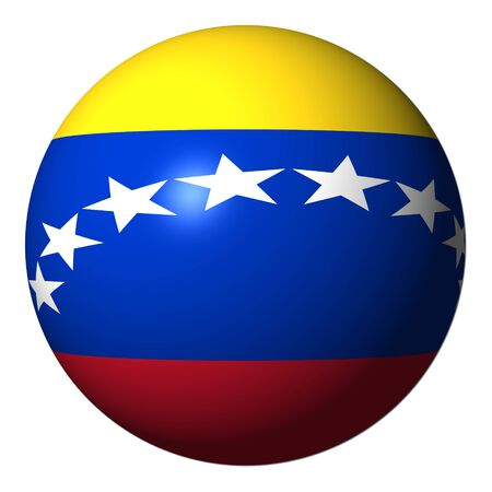 Venezuela flag sphere isolated on white illustration illustration