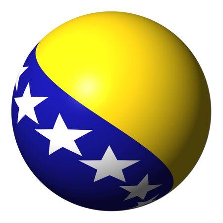bosnian: Bosnia flag sphere isolated on white illustration
