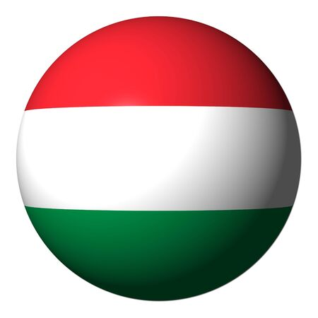 Indicateur de Hongrie sphère isolée sur illustration blanche