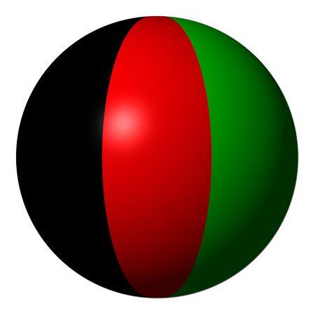 afghan: Afghan flag sphere isolated on white illustration