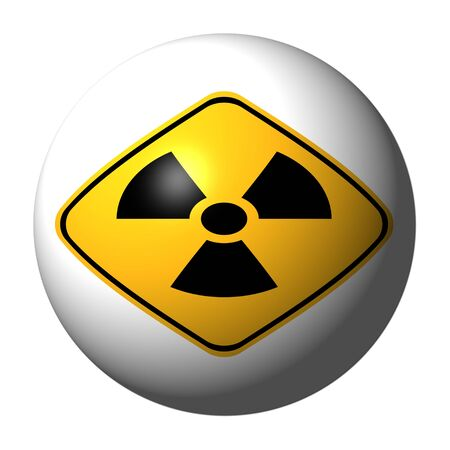 sphere with danger radiation sign illustration  Stock Illustration - 6496048