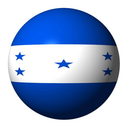 bandera honduras: Bandera de Honduras esfera aislado en ilustraci�n blanco
