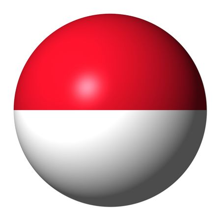 the indonesian flag: Indonesia flag sphere illustration