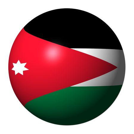 Jordan flag sphere isolated on white illustration illustration