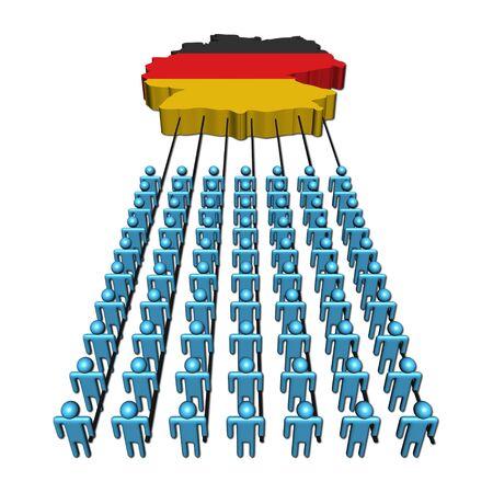 teamwork people pulling Germany map flag illustration Stock Illustration - 6623283