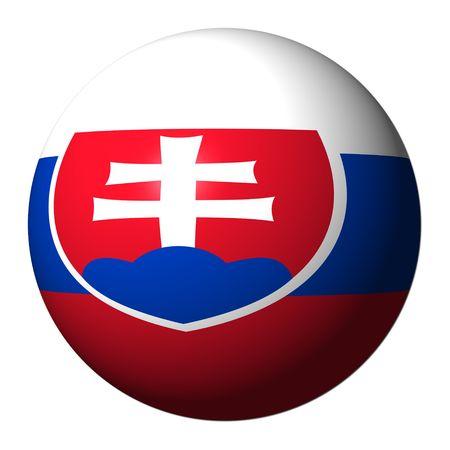slovakian: Slovakian flag sphere isolated on white illustration