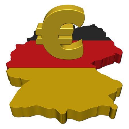 carte allemagne: Allemagne carte drapeau avec une illustration de symbole Euro