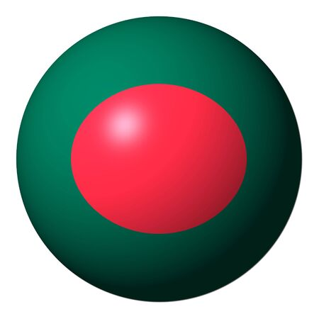 Bangladesh flag sphere isolated on white illustration illustration