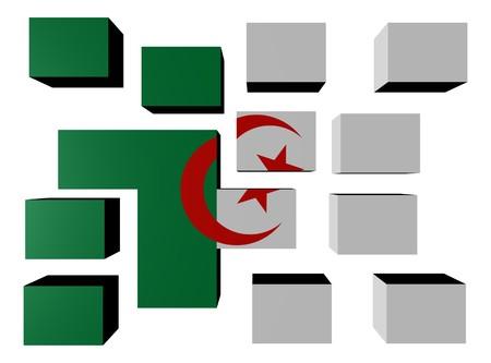 Argentina Flag on cubes against white illustration Stock Illustration - 7114715