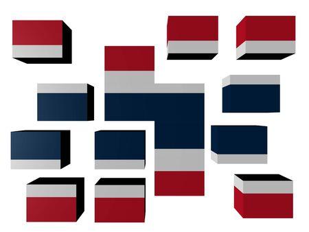 Thailand Flag on cubes against white illustration Stock Illustration - 7162737