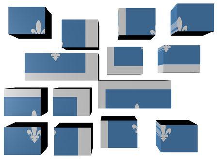 Quebec Flag on cubes against white illustration Stock Illustration - 7174214