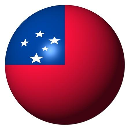 samoa: Samoa flag sphere isolated on white illustration