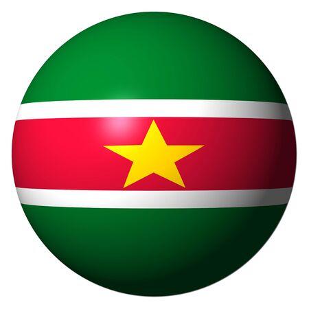 suriname: Vlag van Suriname op geïsoleerde wit illustratie gebied