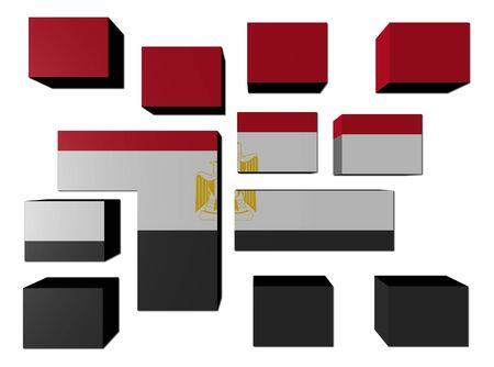 Egypt Flag on cubes against white illustration illustration