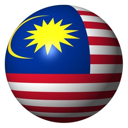 3d flag: Malaysia flag sphere illustration