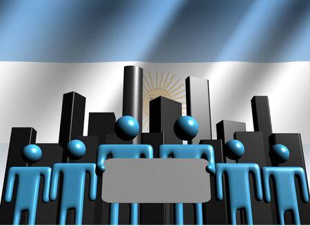 Argentina business team with abstract skyline illustration illustration