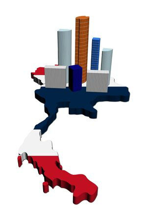 abstract skyscrapers on Thailand map flag illustration Stock Illustration - 8056834