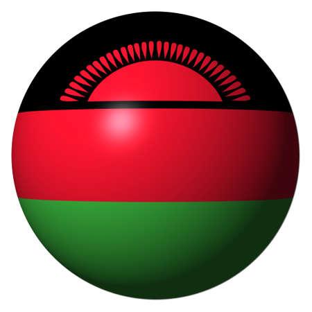 malawi flag: Malawi flag sphere isolated on white illustration