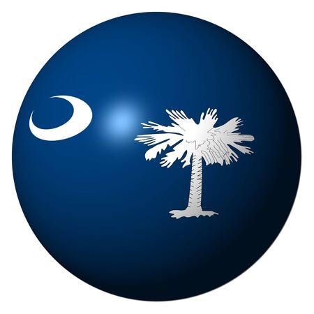 carolina del sur: Bandera de Carolina del sur esfera ilustraci�n
