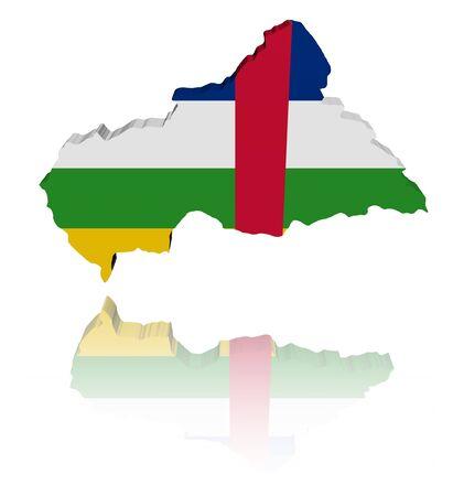 central african republic: Central African Republic map flag illustration Stock Photo