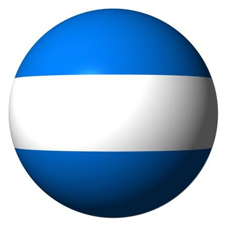 Nicaragua flag sphere illustration illustration