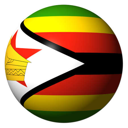 zimbabwe: Zimbabwe flag sphere isolated  illustration