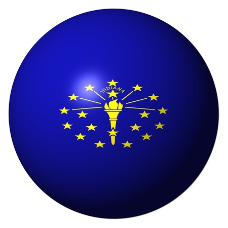 Indiana flag sphere isolated on white illustration Stock Illustration - 8183548