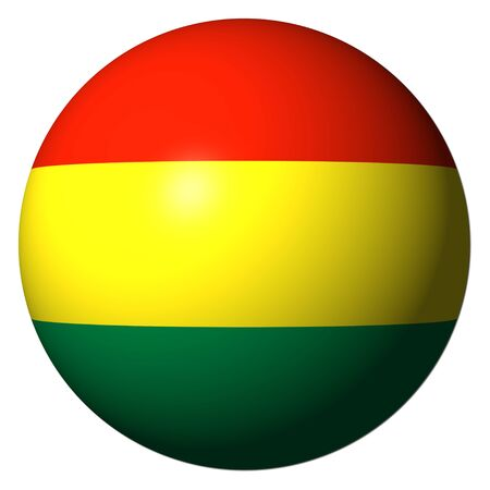 Bolivia flag sphere isolated on white illustration illustration