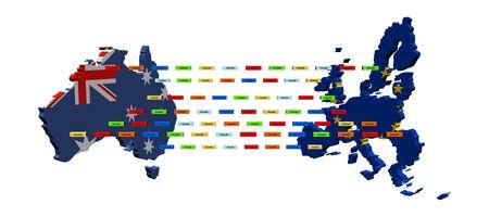 trade union: Australian European Union trade