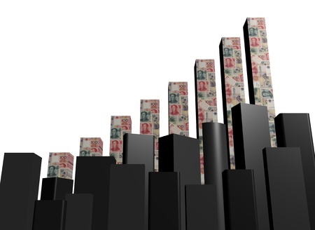 yuan: Yuan graph and abstract skyline illustration