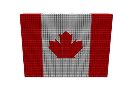 Stacks of containers with Canadian flag illustration illustration