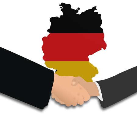 meeting with German map flag illustration illustration