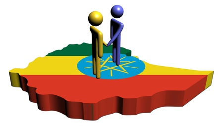 meeting with Ethiopia map flag illustration illustration