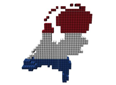 Netherlands map flag made of containers illustration Stock Illustration - 9446263