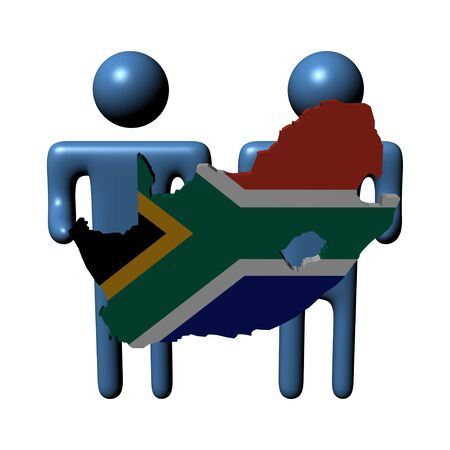 people holding South African map flag illustration illustration