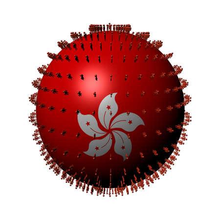 hong kong people: people on Hong Kong flag sphere