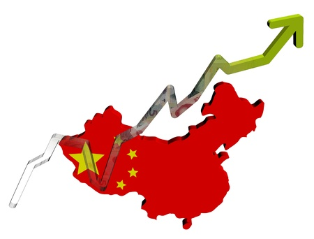 Yuan graph on china map flag illustration illustration