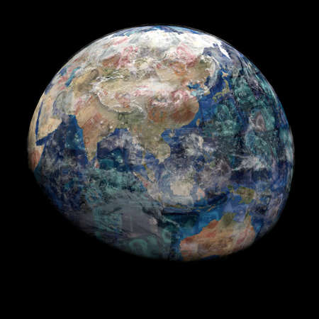 yuan: Earth blended into Yuan sphere illustration