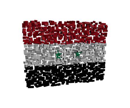 Syryjski: Syryjska flaga na ilustracji bloki
