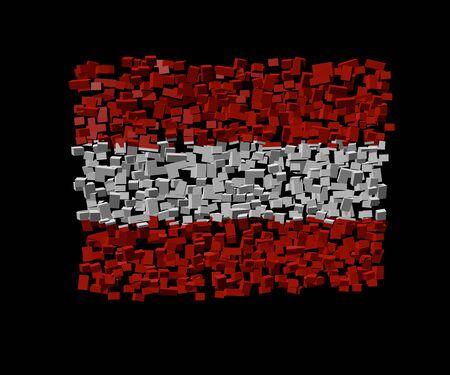 austrian: Austrian flag on blocks illustration Stock Photo