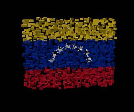 venezuelan: Venezuelan flag on blocks illustration