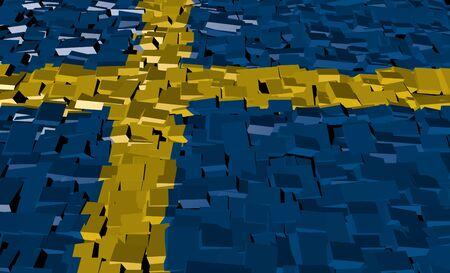 Sweden flag on blocks illustration illustration