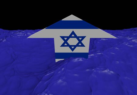 Israel flag arrow in abstract ocean illustration Stock Illustration - 17307794